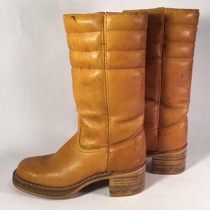 Shoes - Vintage Tan Leather Boots
